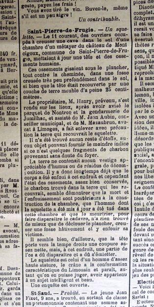 La Croix du Périgord du 21 décembre 1913