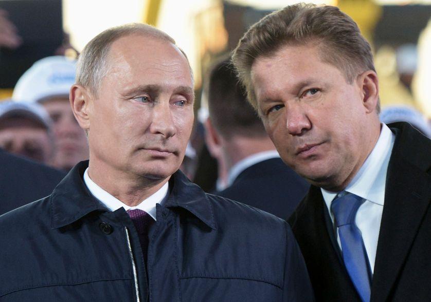 Vladimir Poutin et le Pdt de Gazprom Alexei Miller