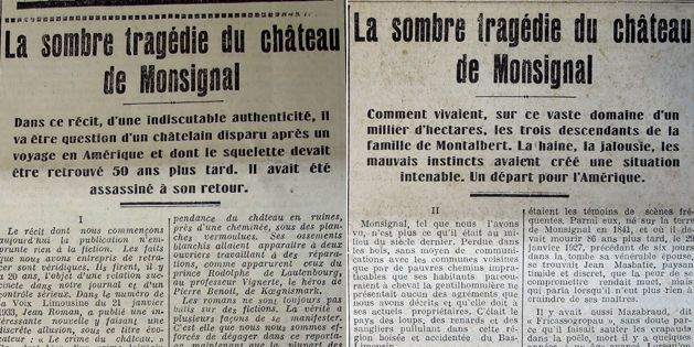 Le Courrier du Centre des 23 et 24 avril 1933