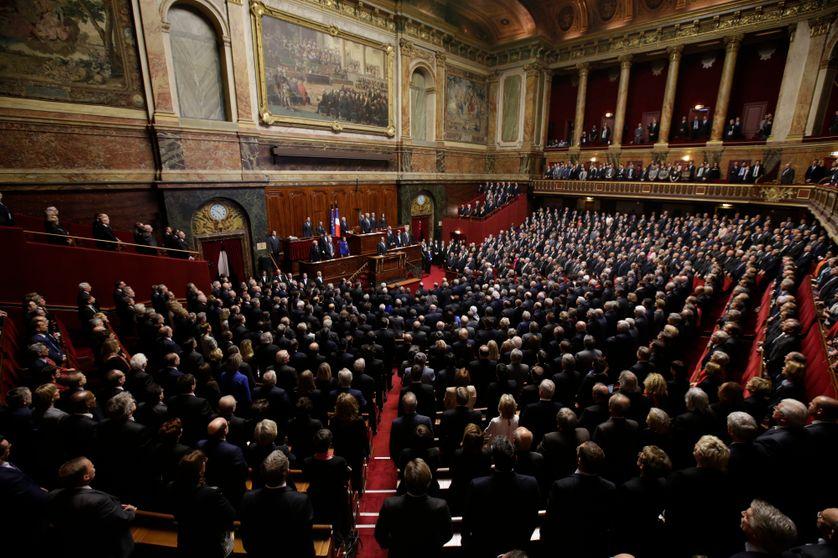 16 novembre 2015, le Parlement est réuni en Congrès à Versailles