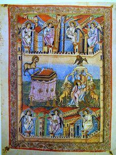 Frontispice de l'Apocalypse de Jean de la Bible de Saint-Paul-hors-les-Murs