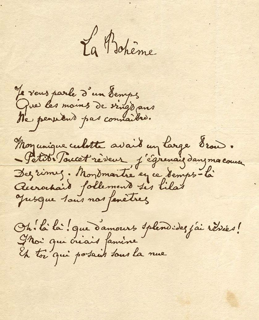 Manuscrit d'Arthur Rimbaud
