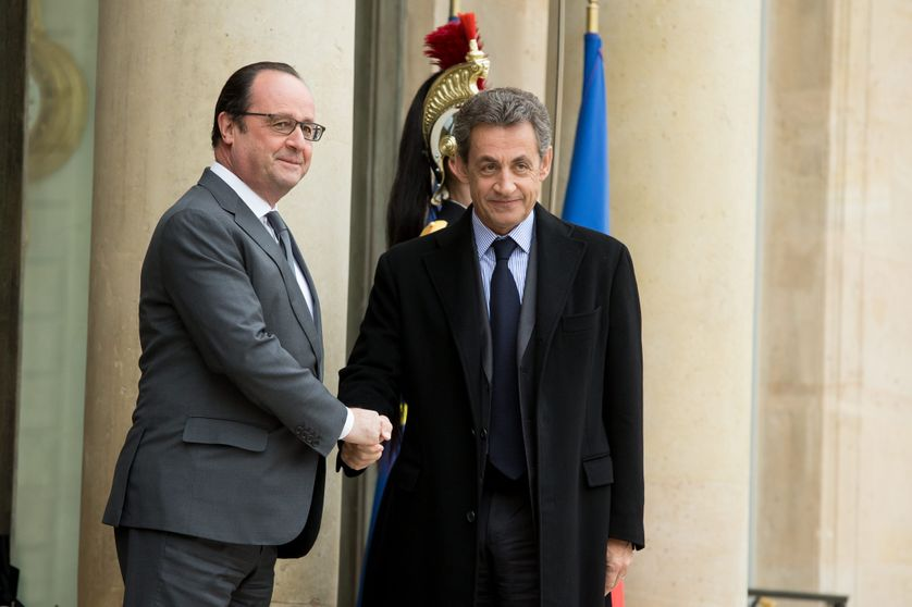 Francois Hollande recoit les groupes parlementaires a l Elysee