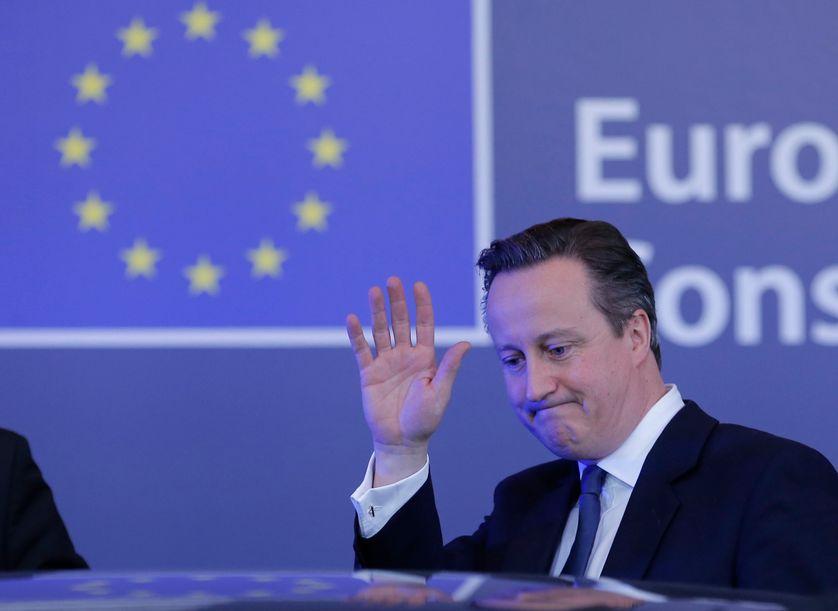 David Cameron quittant le conseil européen