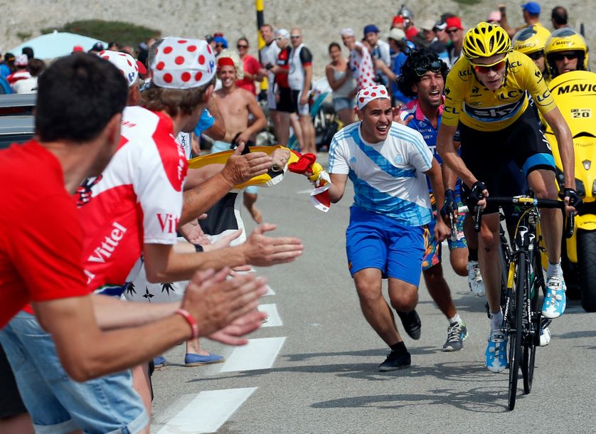 Christopher Froome sur le Mont Ventoux, Tour de France 2013