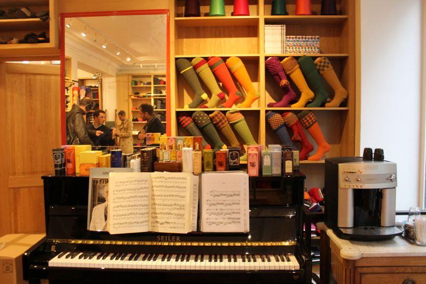 Prise de son dans la boutique Mes Chaussettes Rouges à Paris
