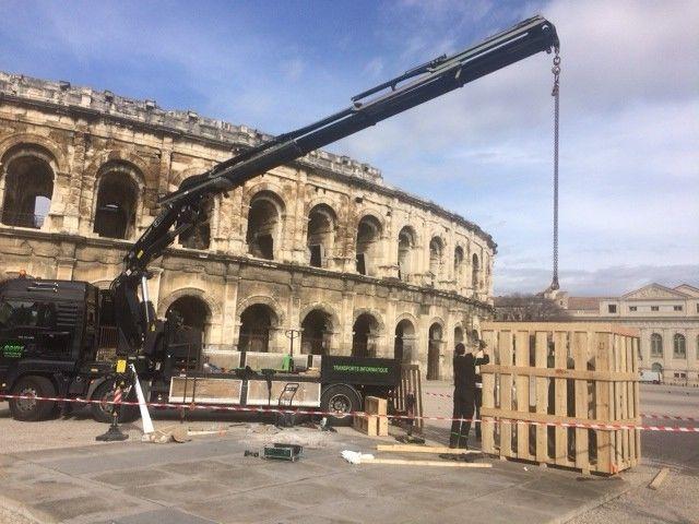 C'est dans une caisse et en camion que Nimeno II a quitté les Arènes de Nîmes