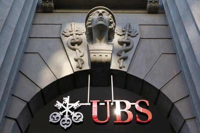 Les locaux de la banque UBS, Bahnhofstrasse à Zurich