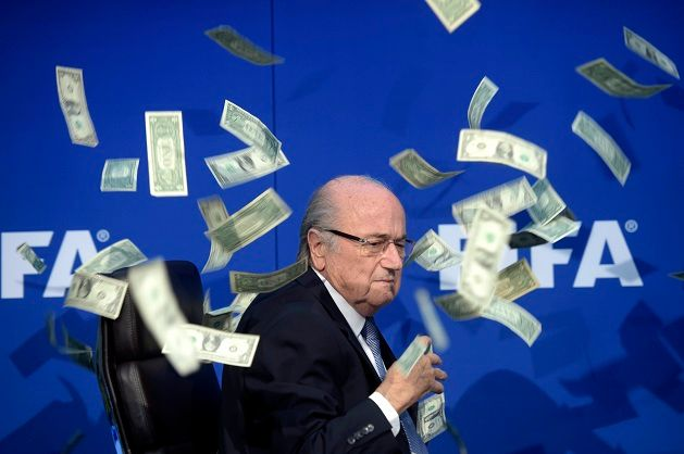 L'ex président de la FIFA lors d'une conférence de presse en juillet 2015