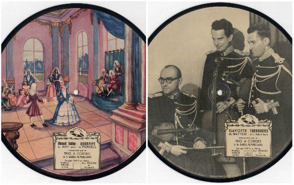 Picture disc garde républicaine label Saturn