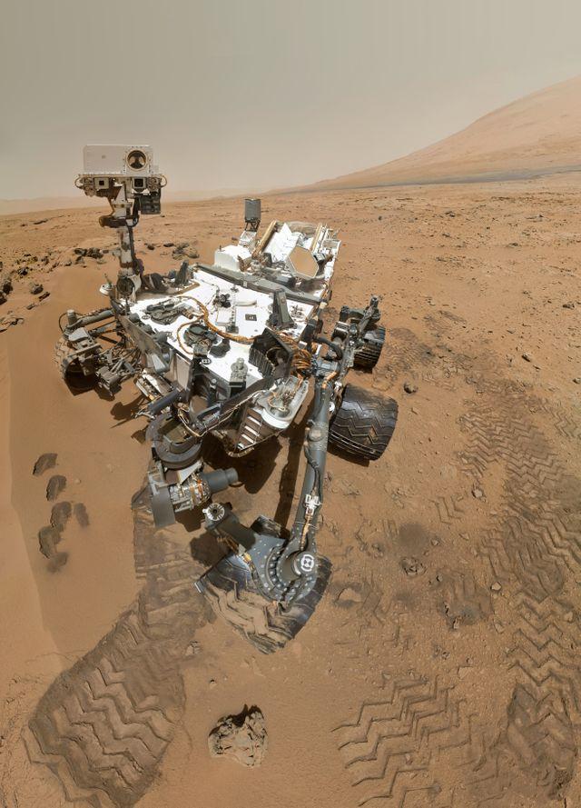 Le Rover Curiosity sur la planète Mars
