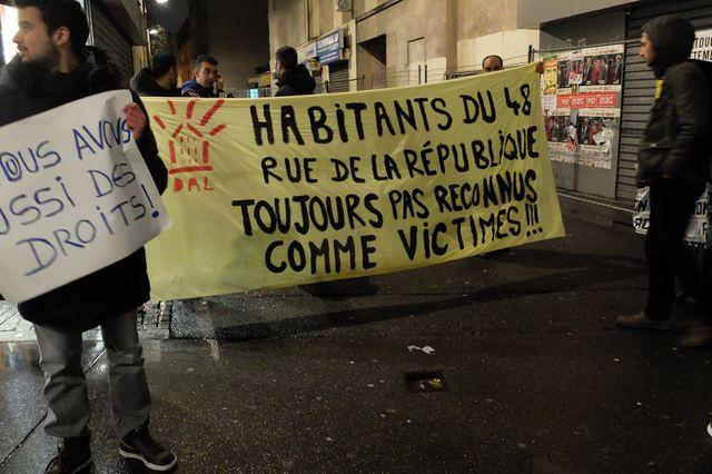 Manifestation de soutien aux sinistrés de l'assaut de Saint-Denis