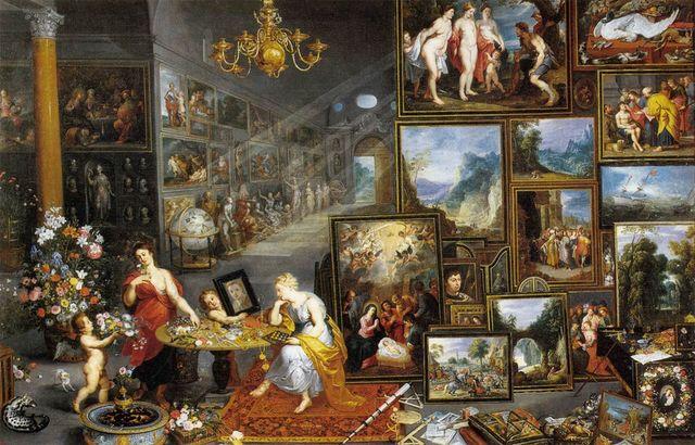 Allégorie de la vue et de l'odorat - Jan Brueghel l'Ancien - 1618