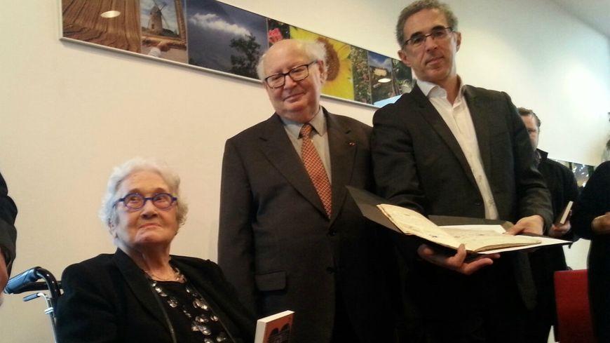 Marise Crémieux-Hurstel, Serge Klarsfeld et Jacques Fredj