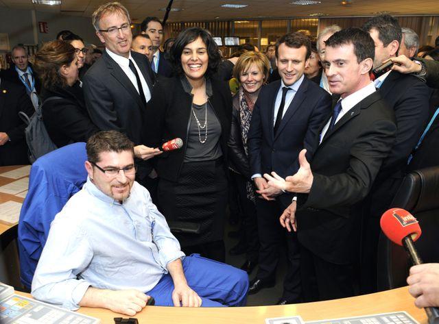 Macron, Valls, El Khomri