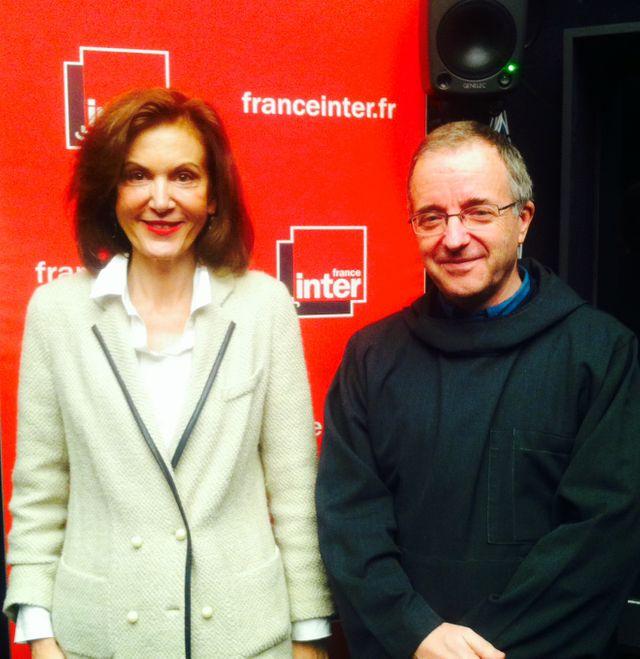Anne Fontaine et le Père Jean-Pierre Longeat