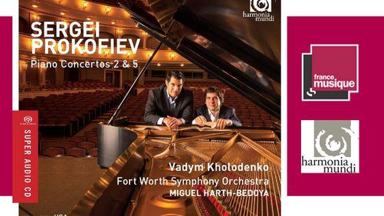 Piano concertos 2 et 5 de Prokofiev par Vadym Kholodenko et le Fort Worth Symphony Orchestra