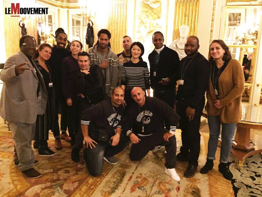 Le collectif de défense des danses hip hop avec Fleur Pellerin le 6 janvier 2016