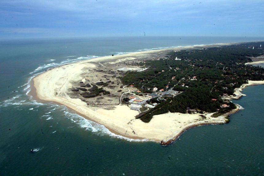 Vue aérienne de la plage de la Pointe du Cap Ferret