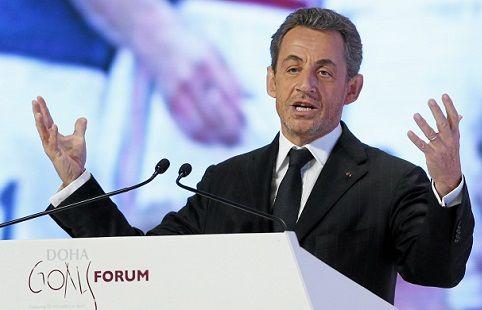 Nicolas Sarkozy à Doha en décembre 2012