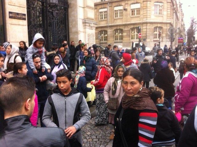 Manifestation soutien Roms menacés d'expulsion