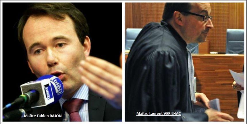 Maître Fabien Rajon et Maître Laurent Verilhac