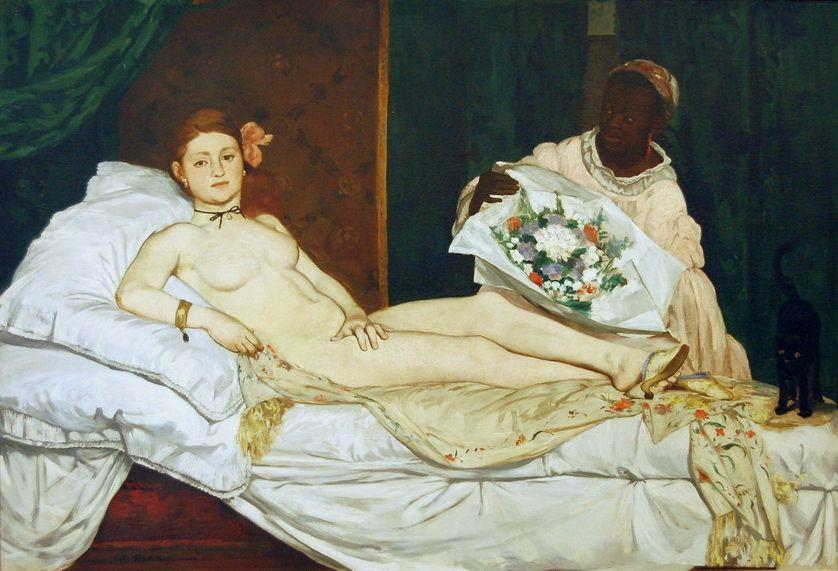 """""""Olympia"""", d'Édouard Manet, conservé au musée d'Orsay"""