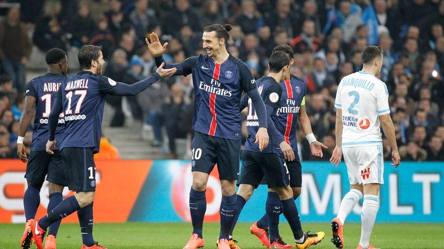 Ibrahimovic a ouvert la marque face à l'OM (Victoire 2-1 du PSG)