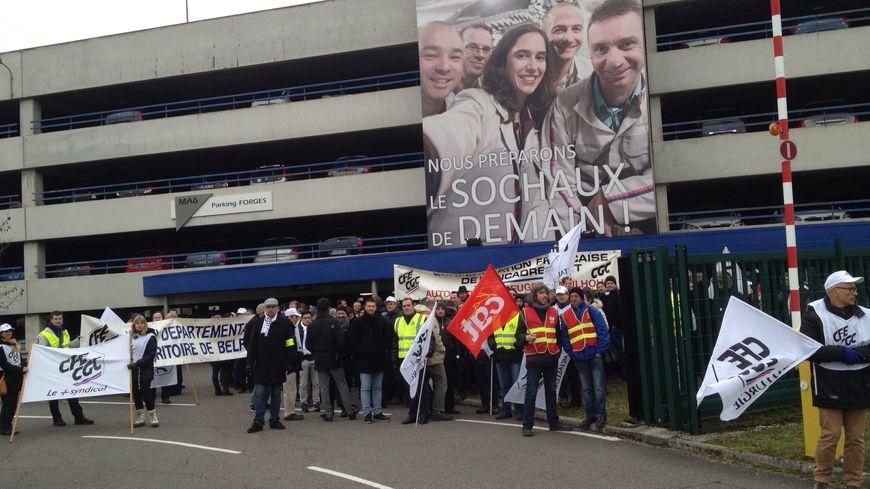 Les salariés de Bessoncourt, Sochaux et Mulhouse étaient rassemblés.