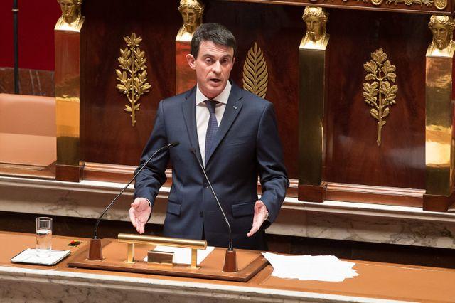 Manuel Valls à l'Assemblee Nationale lors de l'examen de la déchéance de nationalité