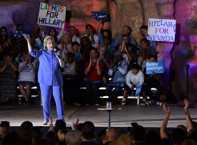 Hillary Clinton en meeting dans le Nevada