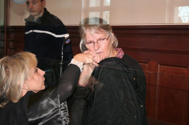 Jacqueline Sauvage lors des audiences à Blois
