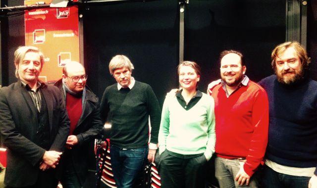 Renaud Monfourny, Christophe Conte, Jean-Marie Durand, Jade Lindgaard, Jean-Marc Lalanne et Pierre Siankowski