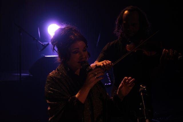 Natacha Atlas et son violoniste Samy Bishai