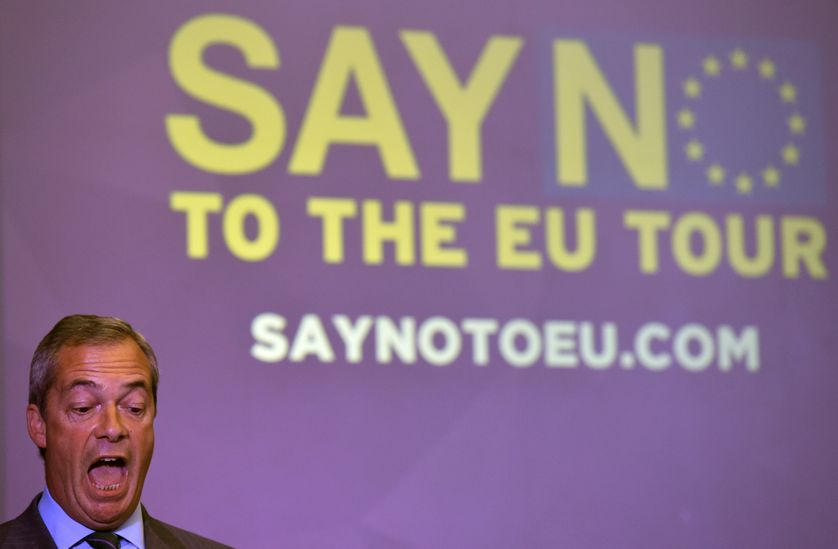 """Nigel Farage, leader du parti """"séparatiste"""" UKIP"""