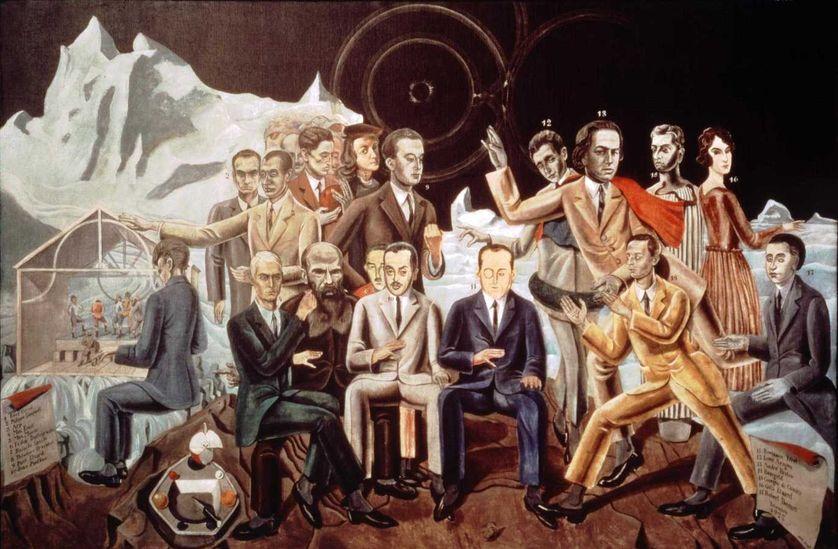 """""""Au rendez-vous des amis"""", de Max Ernst - Le groupe des surréalistes, 1922"""