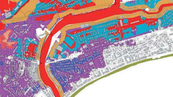 A La Baule, la zone qui borde l'étier du Pouliguen est en zone rouge