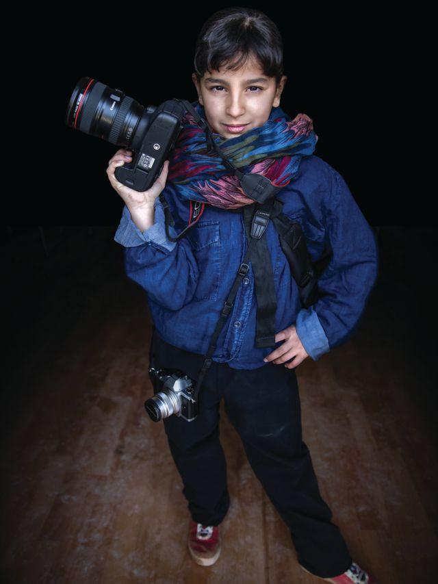 Muntaha, 12 ans, veut devenir photographe.