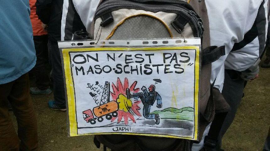 Dans la manif anti-gaz de schiste à Barjac