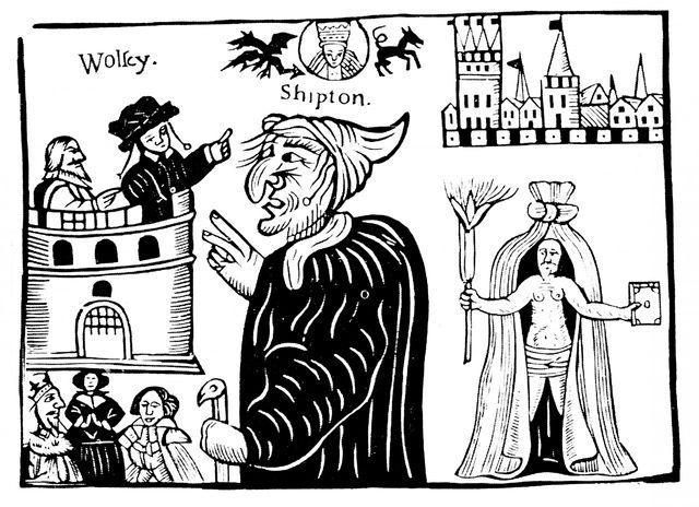 La mère Shipton prédisant la mort du Cardinal Wolsey