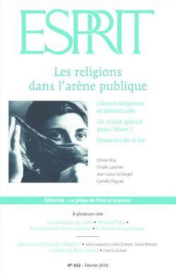Les religions dans l'arène publique