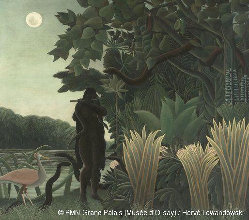 Le Douanier Rousseau La charmeuse de serpents 1907
