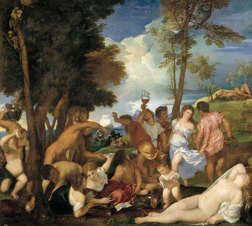 « Bacchanale des Andriens » (1523-1526) de Titien
