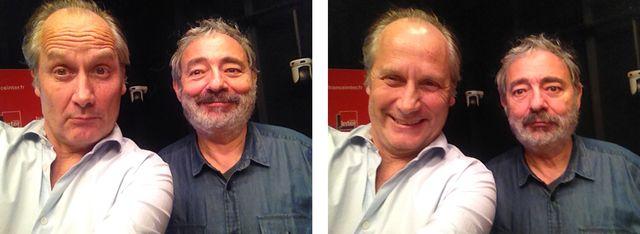 Dan Franck et Hippolyte Girardot