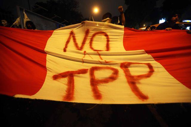 Manifestation contre le TTP au Pérou en janvier 2016