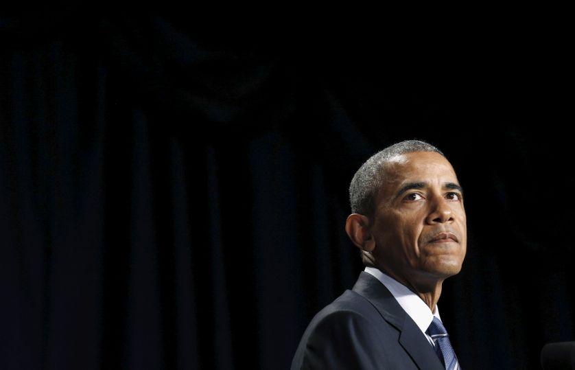 Le President Barack Obama durant un discours à Washington