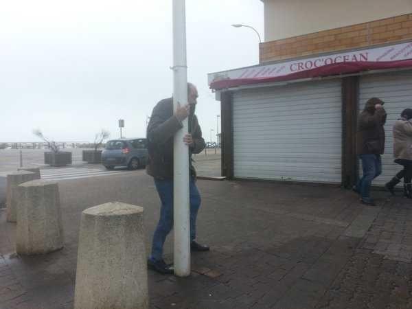 Lors du coup de vent du 11 janvier, à Lacanau