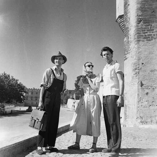 Jean Vilar, Jeanne Moreau et Gérard Philipe au Festival d'Avignon
