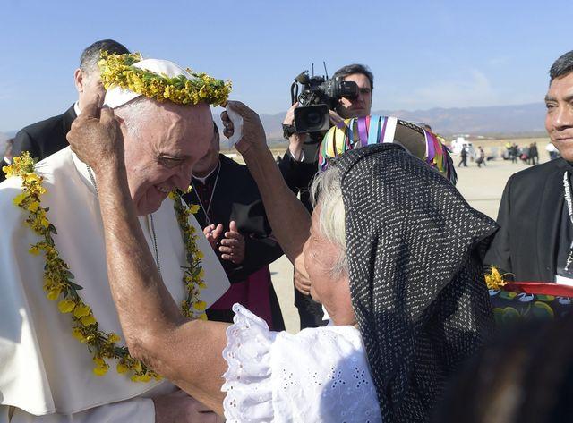 Le pape François en visite au Chiapas