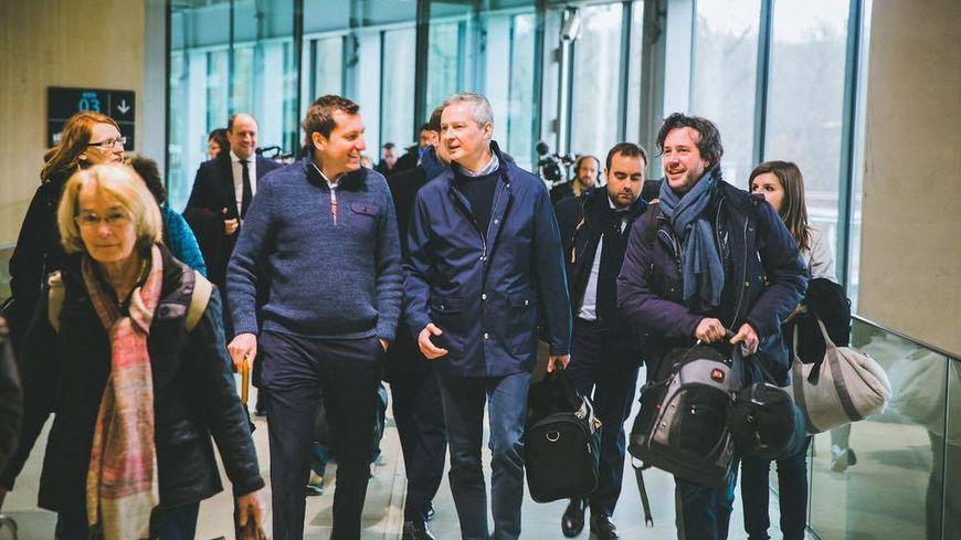 Arrivée en gare de Besançon TGV. Photo postée sur son compte Facebook